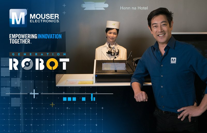 "Mouser Electronics and Grant Imahara Visit Futuristic Robot Hotel and Ponder Dawn of AI in New ""Generation Robot"" Video"