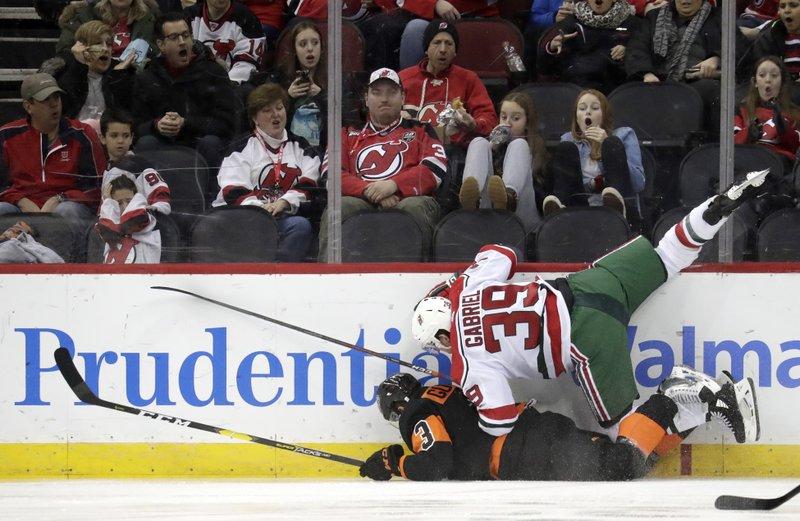wholesale dealer 33dc8 db9a9 Devils F Gabriel suspended for hit on Flyers F Patrick