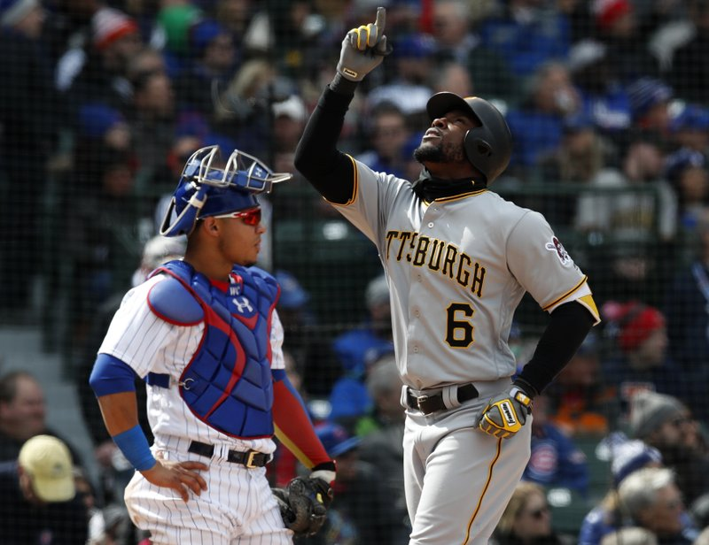 Starling Marte during the fourth inning of