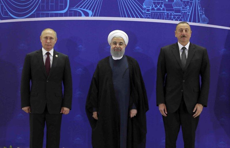 Hassan Rouhani, Vladimir Putin, lham Aliyev
