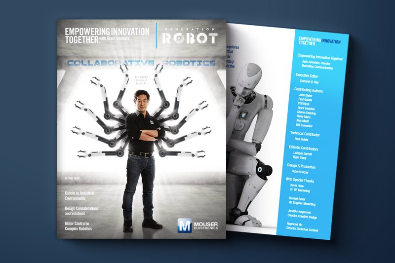 """Mouser Electronics and Grant Imahara Release New E-Book as Part of """"Generation Robot"""" Series"""