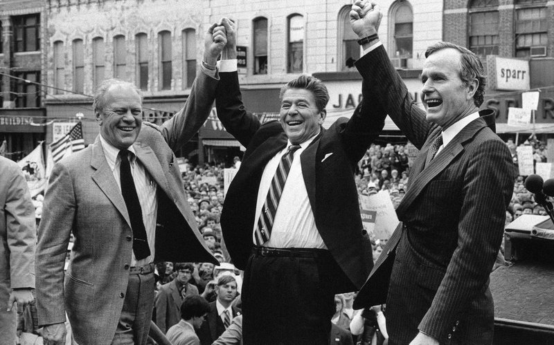 George H.W. Bush, Gerald Ford, Ronald Reagan