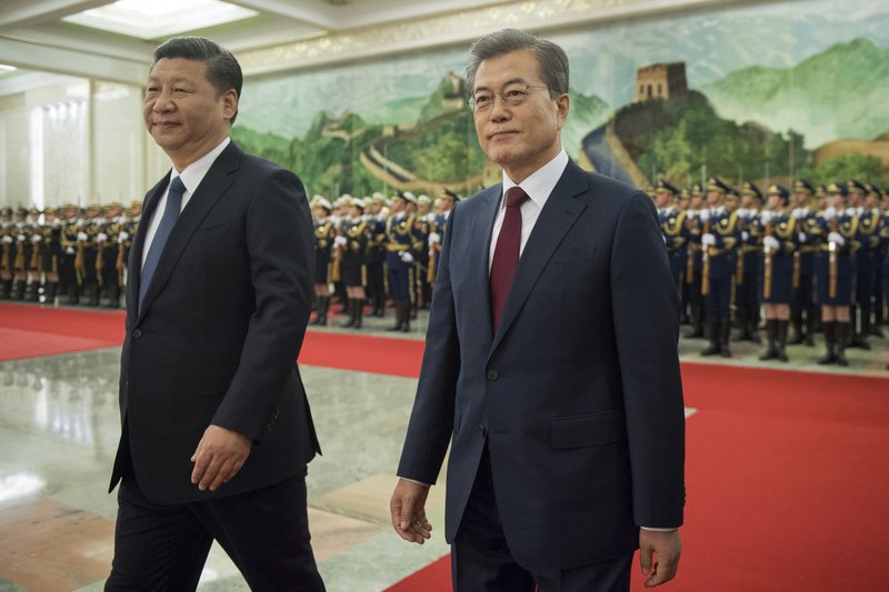 Moon Jae-in, Xi Jinping
