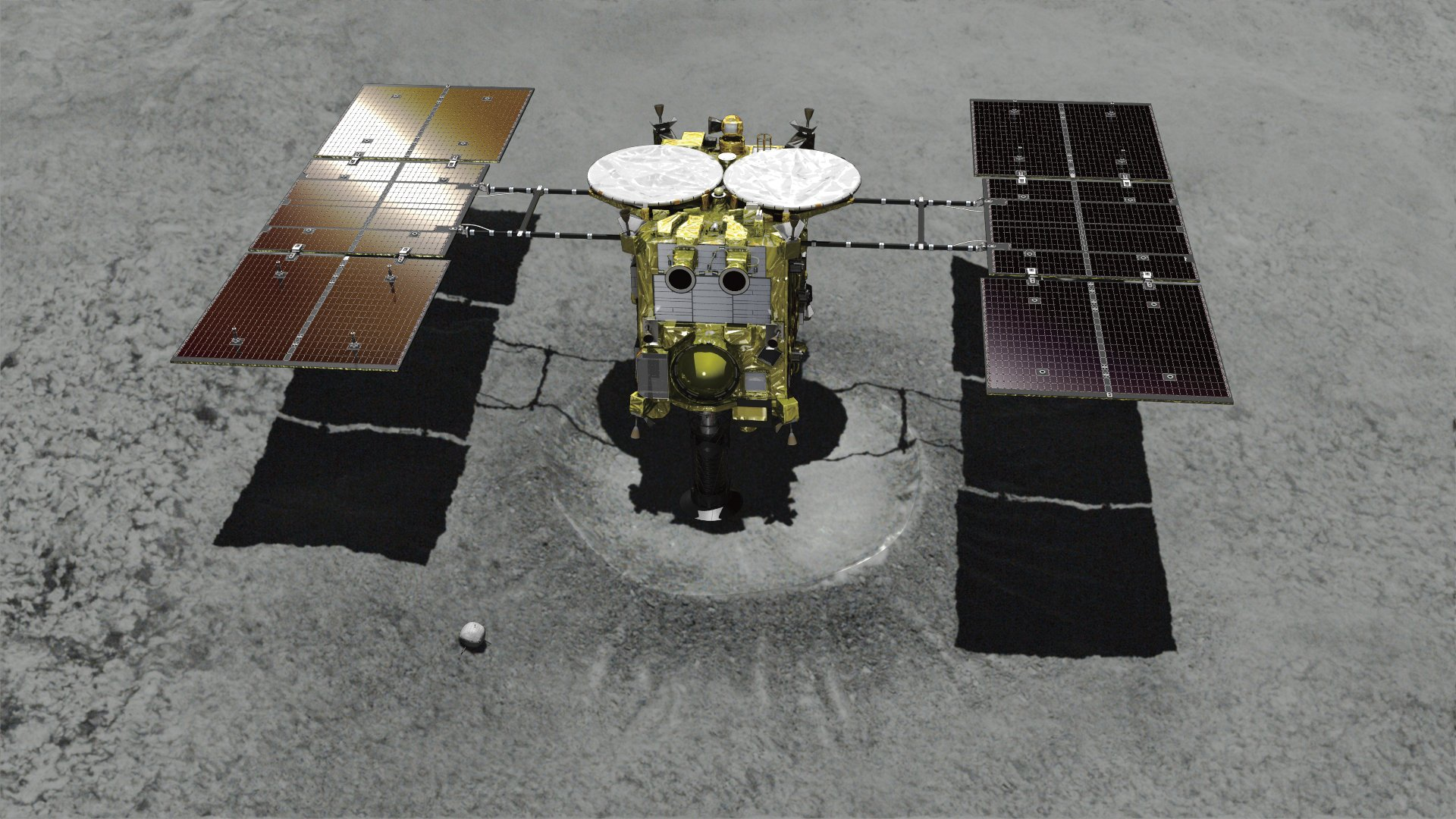 Japanese spacecraft lands on distant asteroid