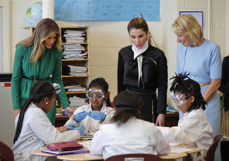 Neil Gorsuch, Melania Trump, Queen Rania, Betsy DeVos