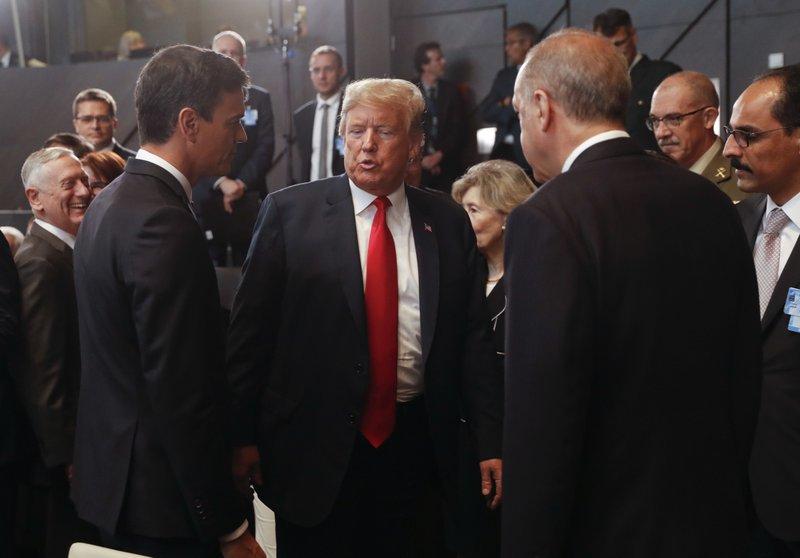 Donald Trump, Pedro Sanchez, Recep Tayyip Erdogan