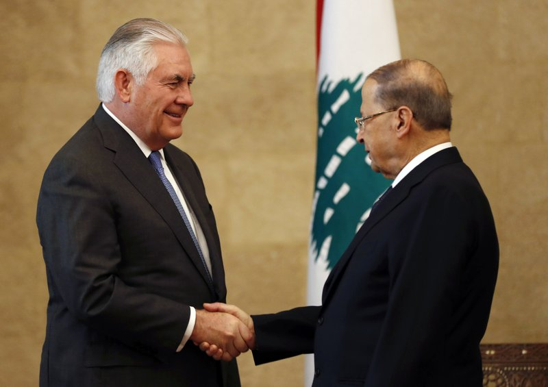 Rex Tillerson, Michel Aoun