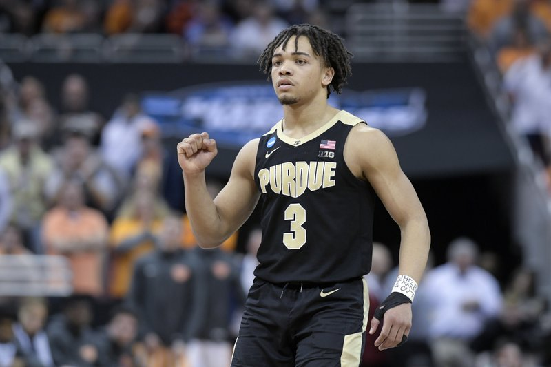 b7974d1bf94b Purdue s Carsen Edwards shooting into Steph Curry territory