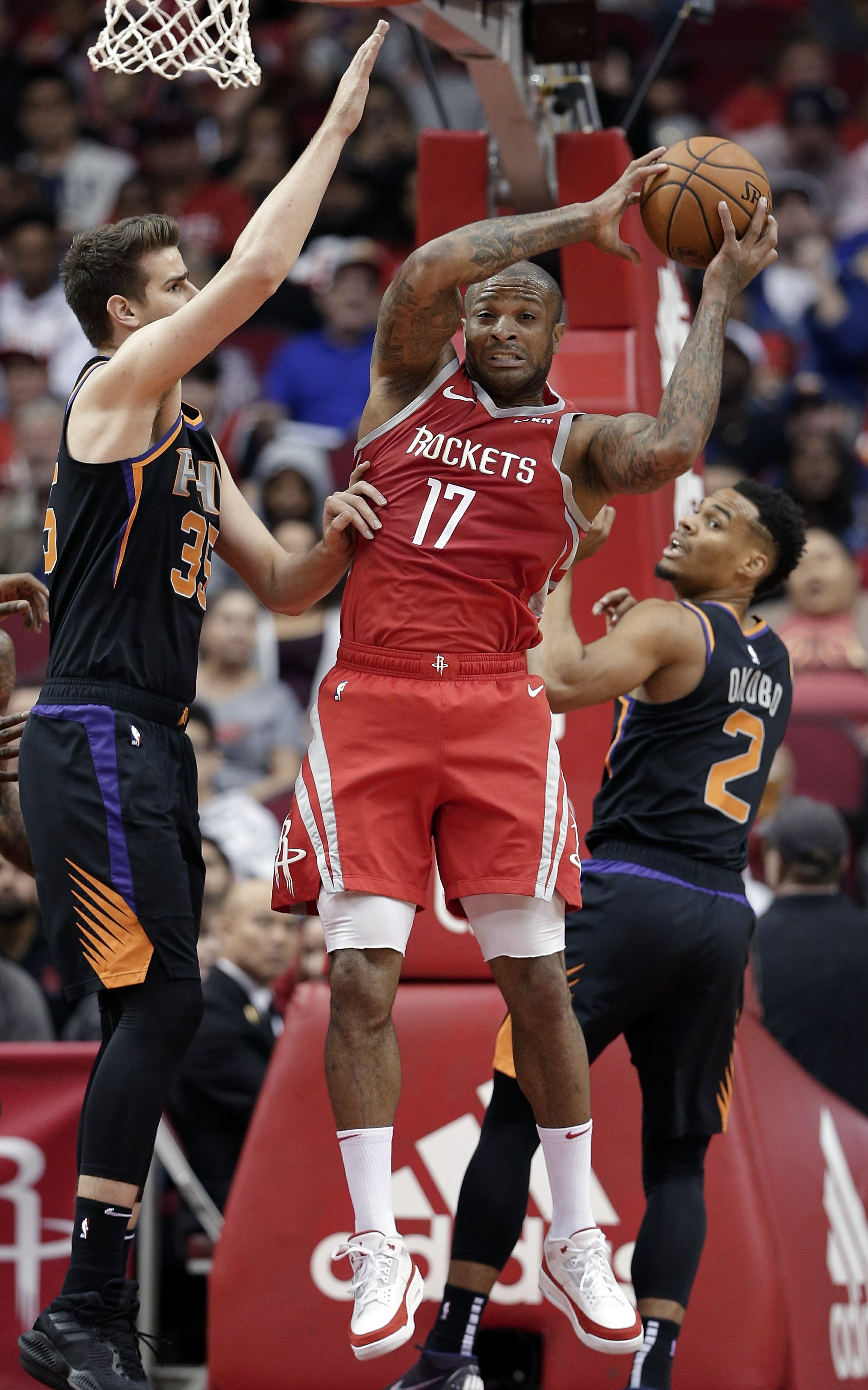 97d3c05d67a0 Rockets set NBA record with 27 3s in 149-113 rout of Suns