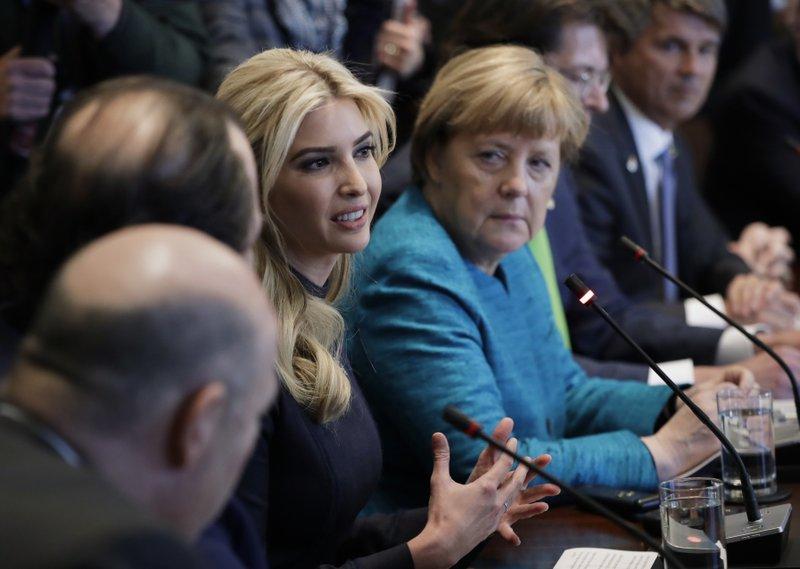 Ivanka Trump,Angela Merkel