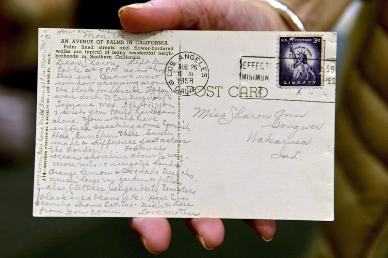 d2cd306d151f Indiana woman finally receives postcard 60 years later