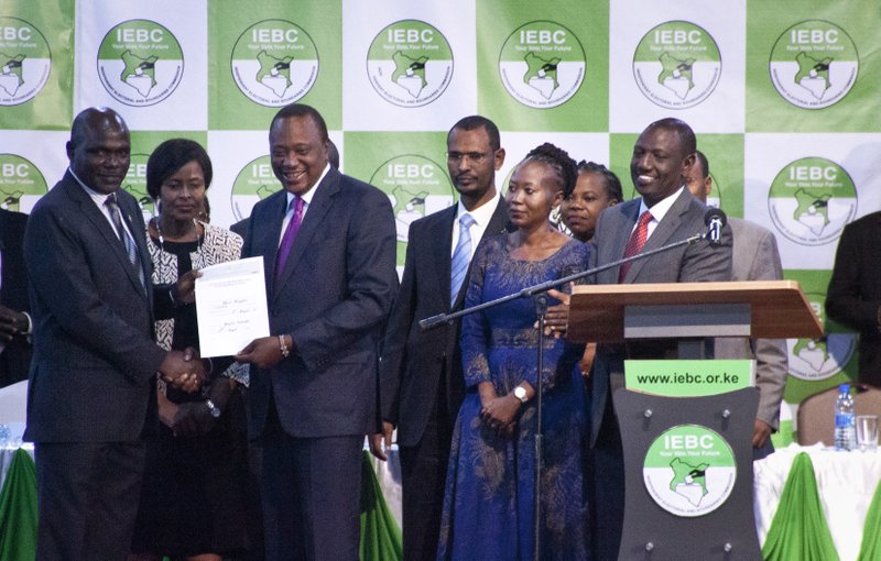 Roselyn Akombe, Uhuru Kenyatta, Wafula Chebukati, William Ruto