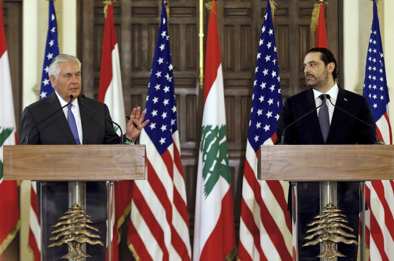 Saad Hariri, Rex Tillerson