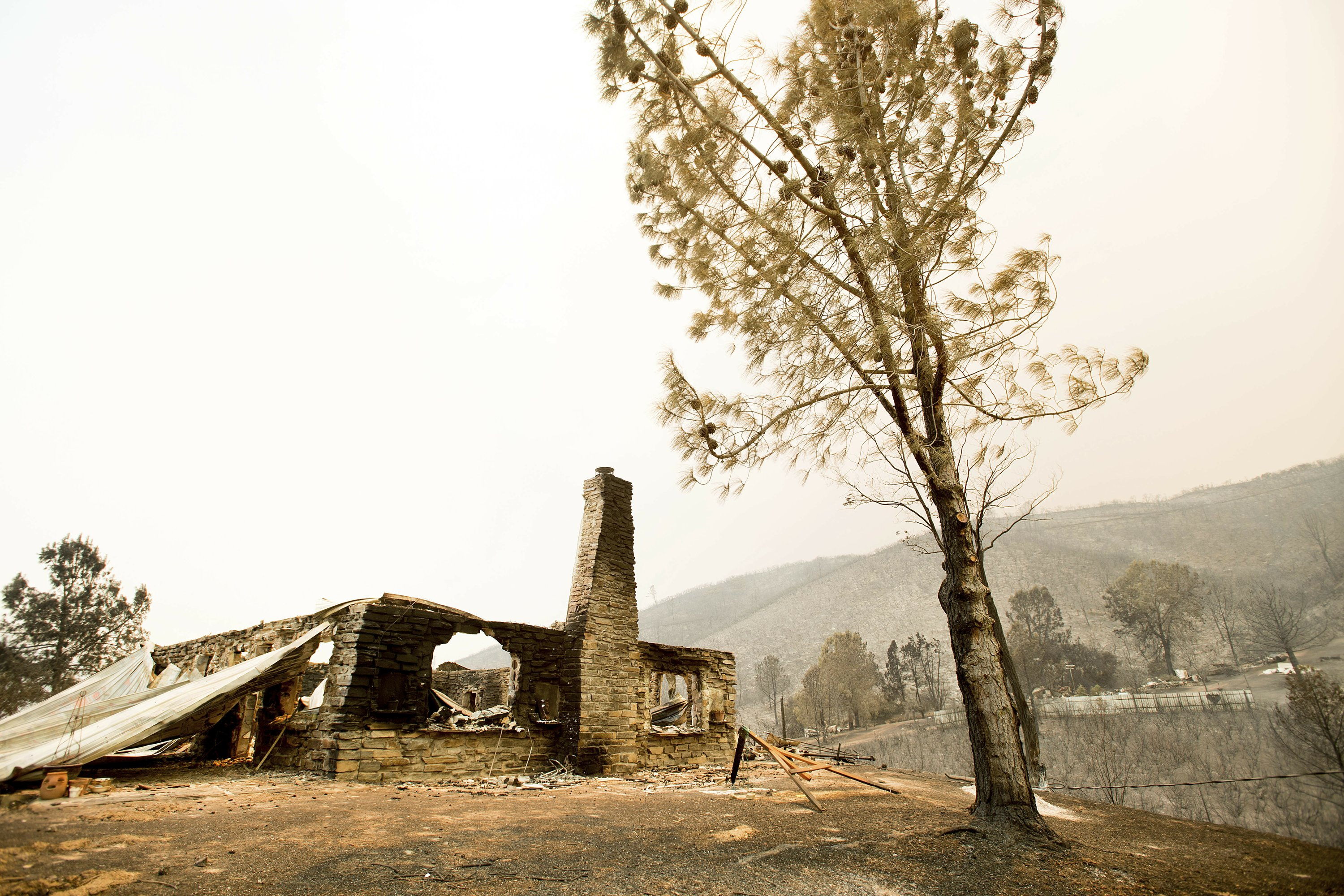 "Wildfire leaves ""complete devastation"" in rural community"