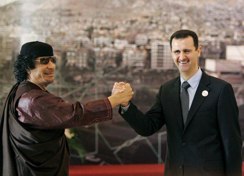 Bashar Assad, Moammar Gadhafi