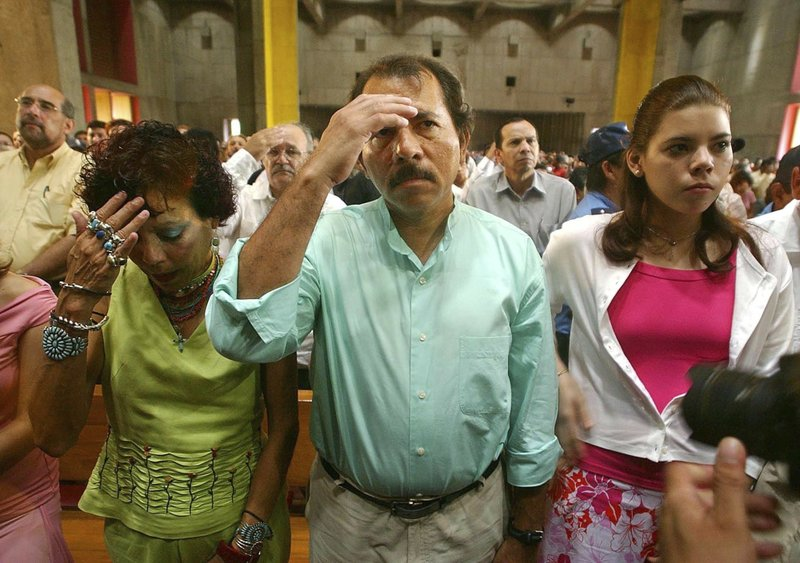 Daniel Ortega, Rosario Murillo, Camila Ortega