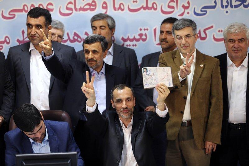 Mahmoud Ahmadinejad, Hamid Baghaei, Esfandiar Rahim Mashaei
