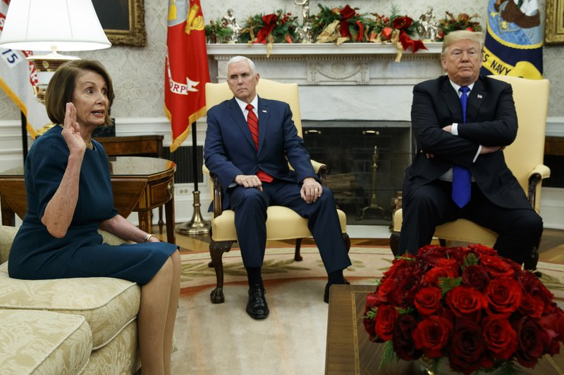 Donald Trump, Nancy Pelosi, Mike Pence