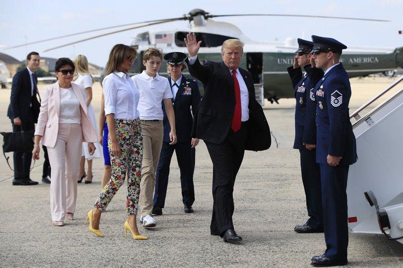 Donald Trump, Melania Trump, Barron Trump, Amalija Knavs