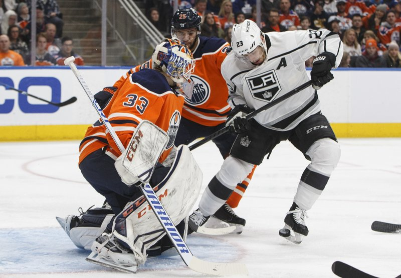 Dustin Brown, Darnell Nurse, Cam Talbot