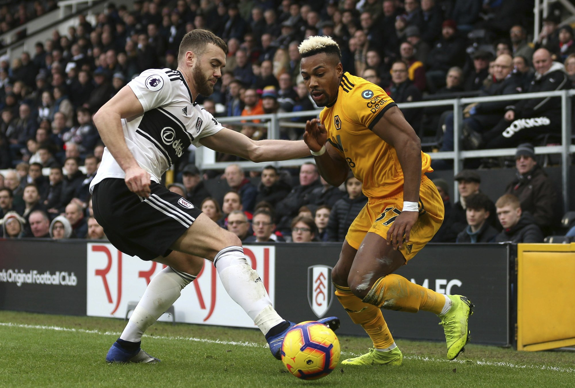 Fulham off the bottom after 1-1 draw with Wolverhampton