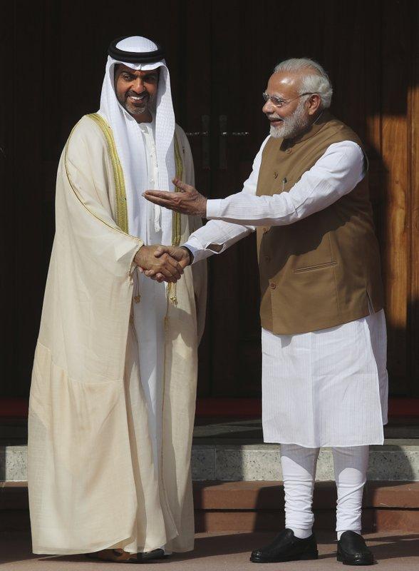 Narendra Modi, Hamed Bin Zayed Al Nahyan