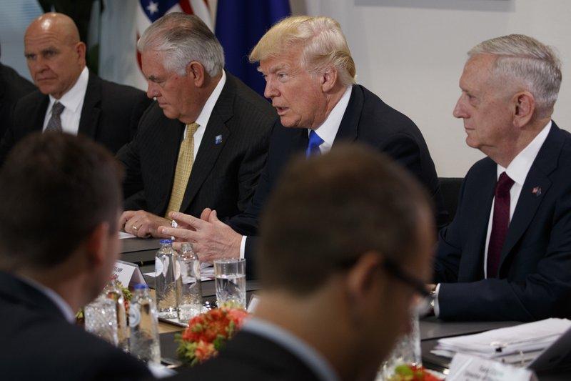 Donald Trump, H.R. McMaster, Rex Tillerson, Jim Mattis