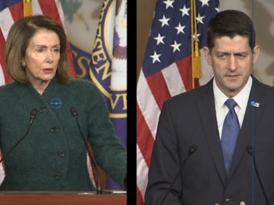 Pelosi, Ryan Clash Over Tax Reform