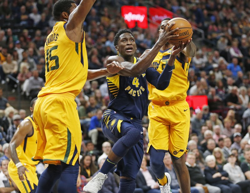 Victor Oladipo, Derrick Favors, Royce O'Neale