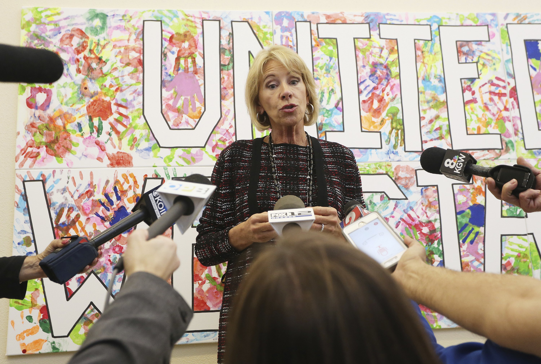 DeVos touts school choice, STEM for $4B in grants