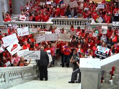 Kentucky Teachers Rally for Education Funding