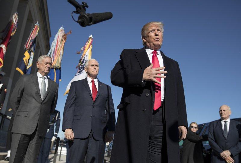 Donald Trump, John Kelly, Mike Pence, Jim Mattis
