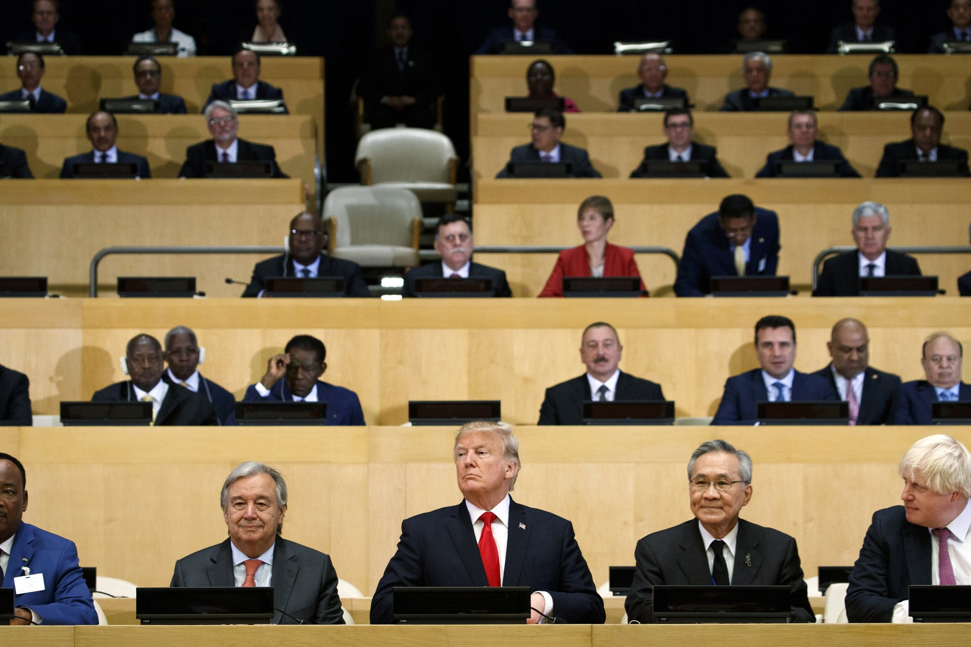 Trump calls for UN reform, but with more restrained tones
