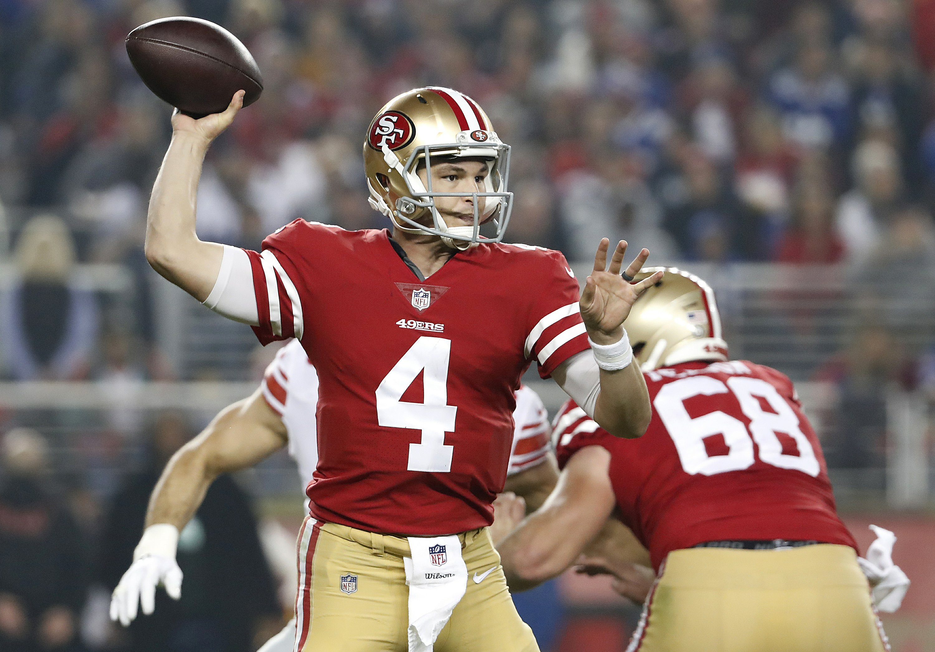 buy online c320d 29be1 Nick Mullens remains starter at QB for 49ers