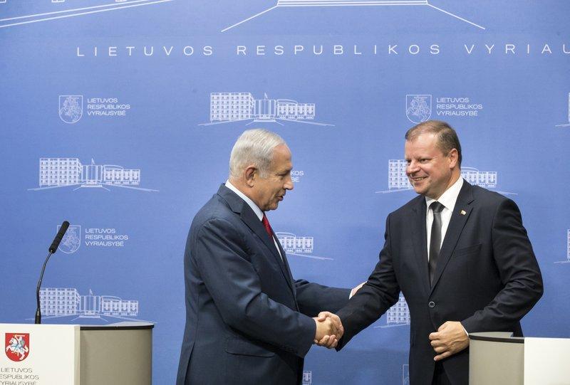Saulius Skvernelis, Benjamin Netanyahu