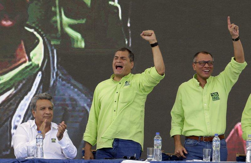 Rafael Correa, Lenin Moreno, Jorge Glas