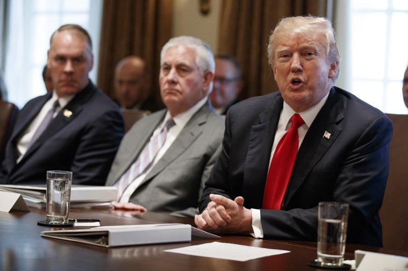 Donald Trump, Ryan Zinke, Rex Tillerson