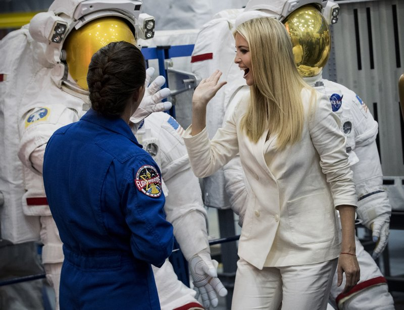 apnews.com - AP Staff - Ivanka Trump tours NASA center in Houston, calls space crew