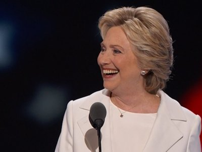Clinton Accepts Dem Nomination with 'Humility'