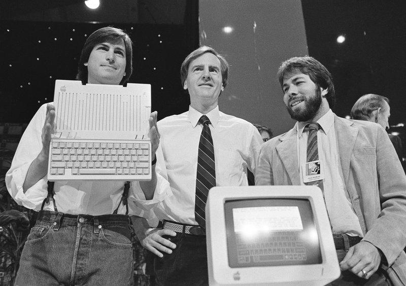 Steve Jobs, Steve Wozniak, John Sculley