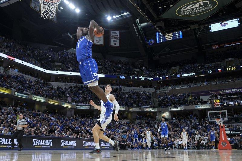 0111064966d Fantastic freshmen help No. 4 Duke blow out No. 2 Kentucky
