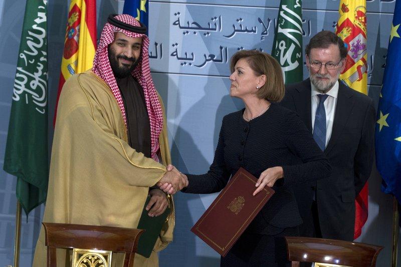 Mariano Rajoy, Prince Mohammed bin Salman, Maria Dolores Cospedal