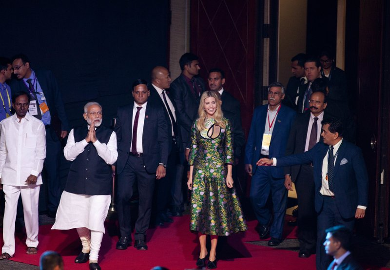 Narendra Modi, Ivanka Trump, K. Chandrashekara Rao