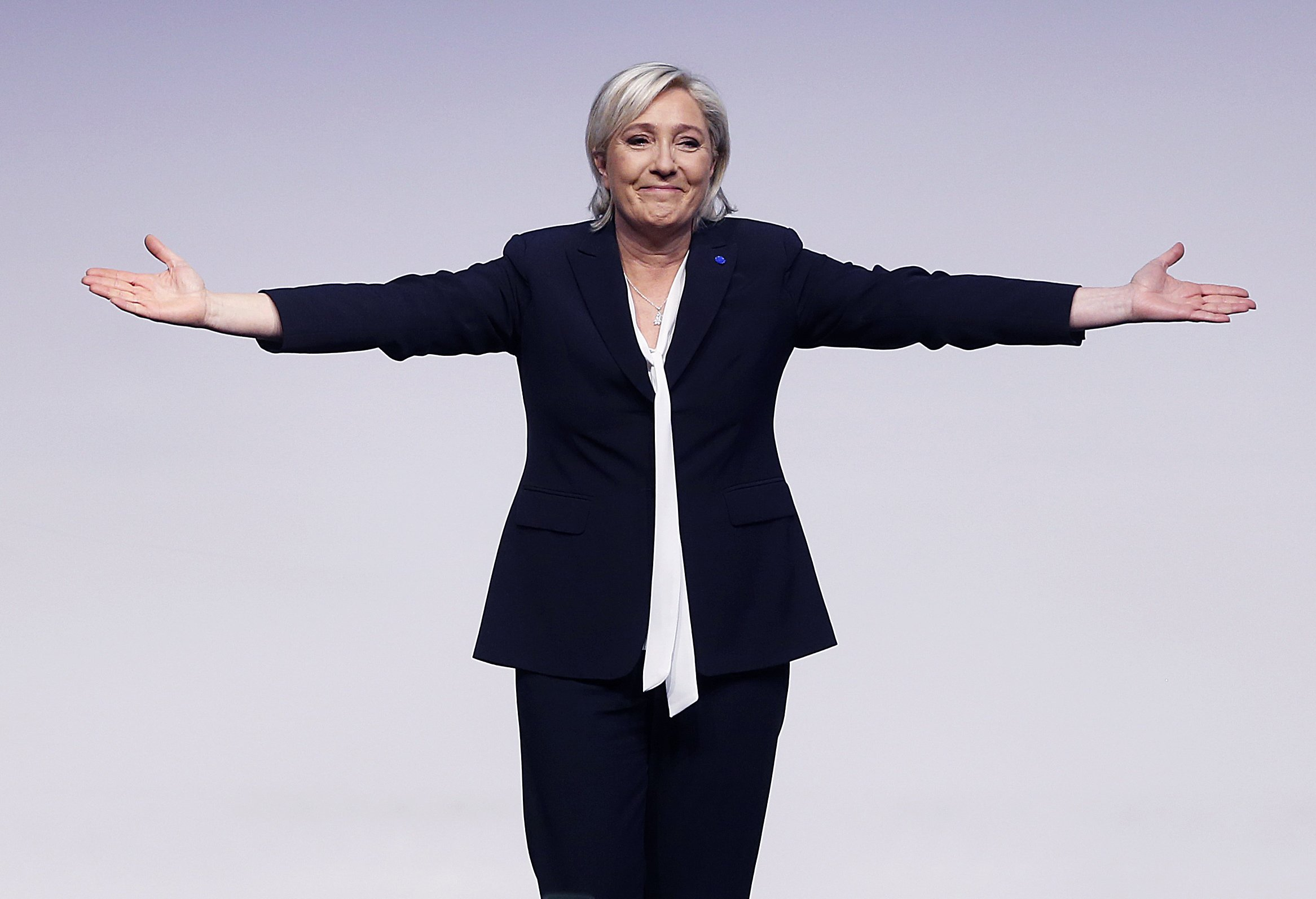 The Latest: Le Pen vows to pull France out of EU, NATO