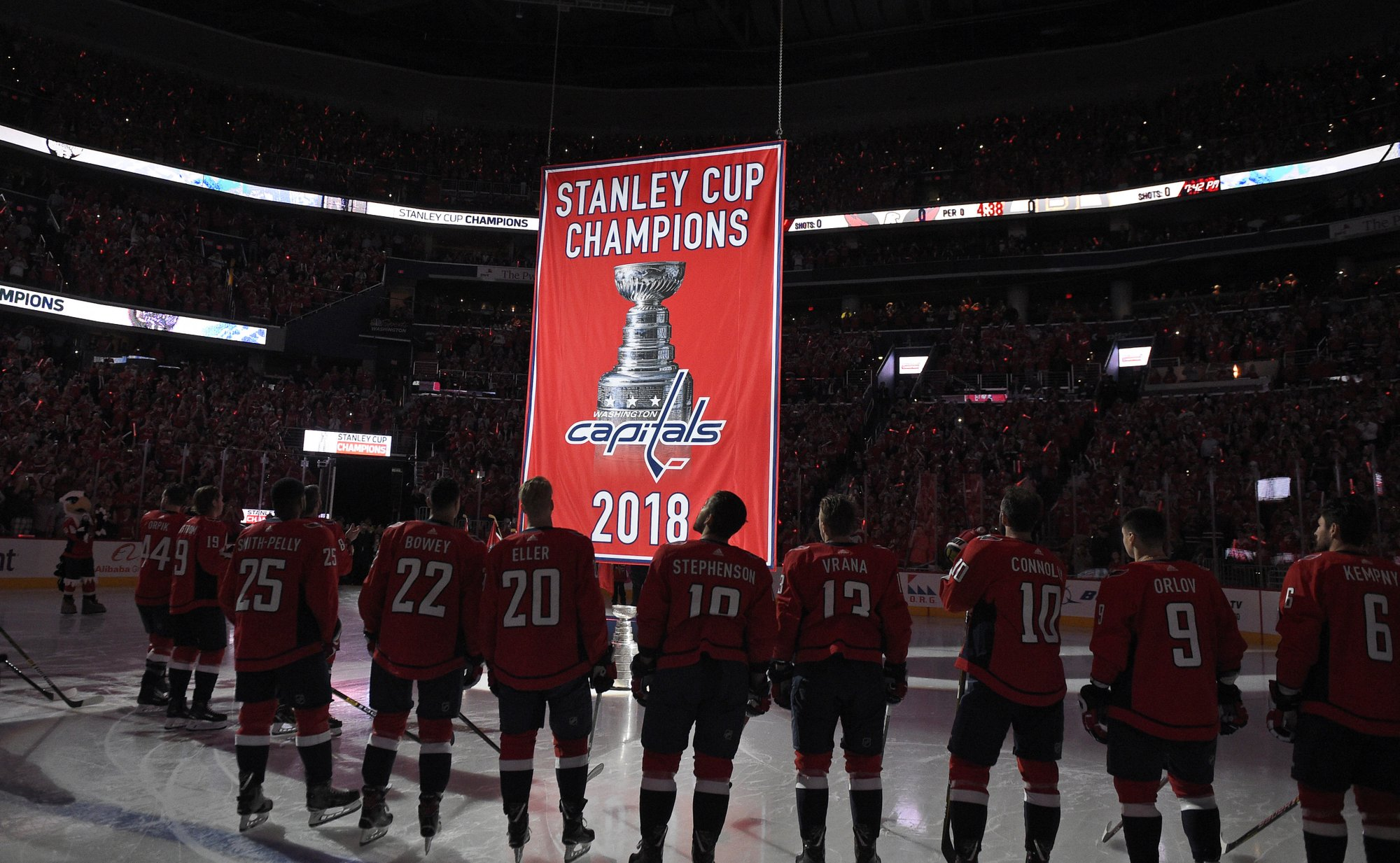 4c477e090b3 Back-to-back!  Banner night for Ovechkin