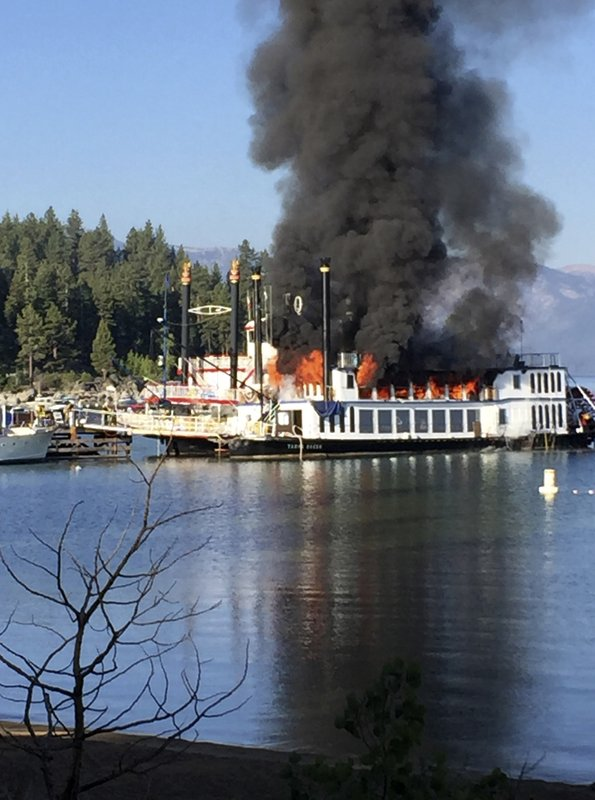 The Latest 2 Minor Injuries In Tahoe Cruise Boat Fire