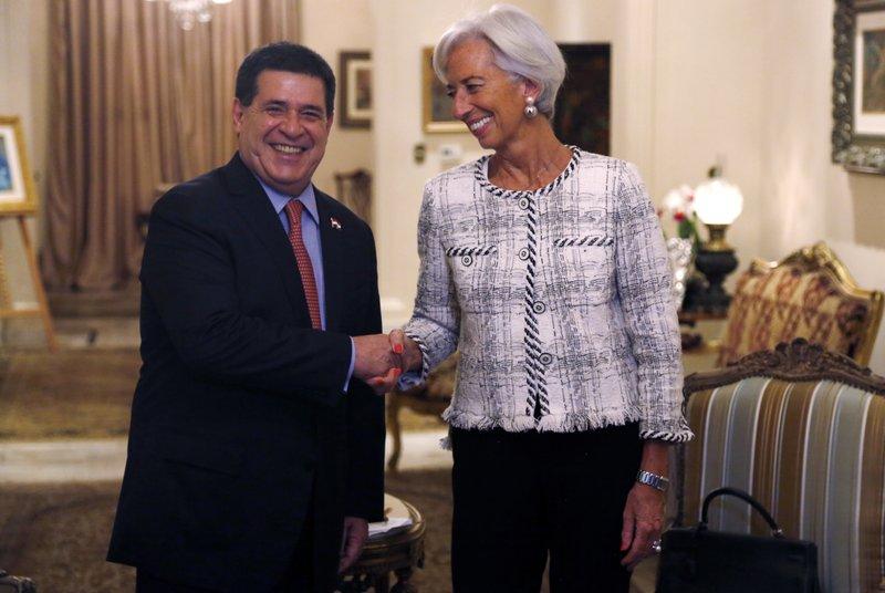Christine Legarde, Horacio Cartes