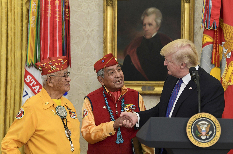 Trump's 'Pocahontas' jab at Navajo event draws blowback