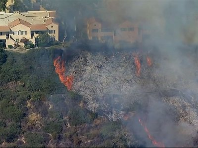 Fire in Southern California Threatens Apartments