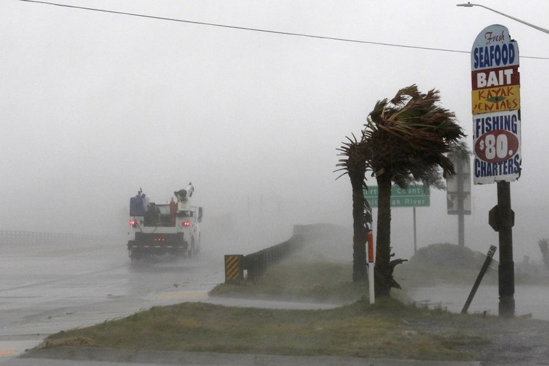 Hurricane Florence making landfall in Carolinas